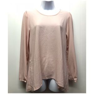 Charming Charlie | Dusty Pink Bow Back Long Sleeve